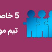 ۵ خاصیت تیم موفق